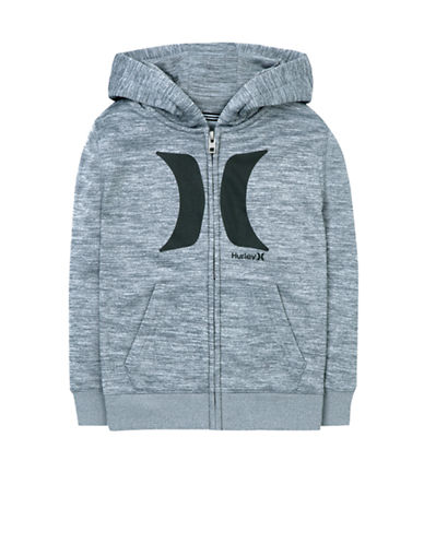 Hurley Therma-Fit Icon Hoodie-GREY-Large