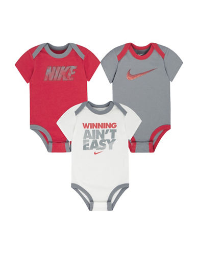 Nike Three-Pack Bodysuit Set-ASSORTED-9-12 Months