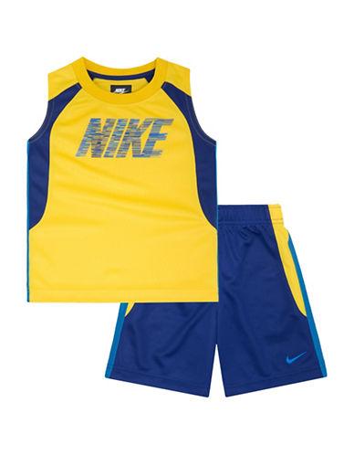 Nike Muscle Tank and Shorts Two-Piece Set-DEEP ROYAL-2T 88361112_DEEP ROYAL_2T