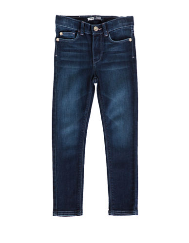 LeviS Starry Denim Leggings-BLUE-4