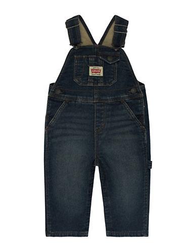 LeviS Soft Knit Overalls-BLUE-24 Months