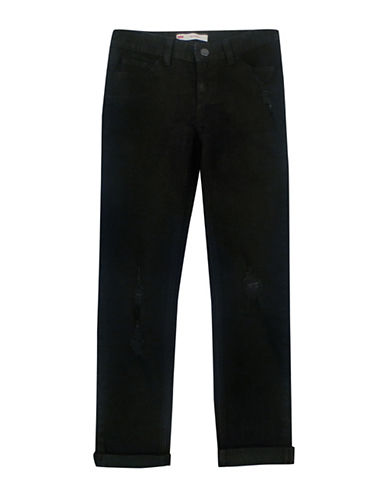 LeviS Destructed Boiyfriend Jeans-BLACK-12