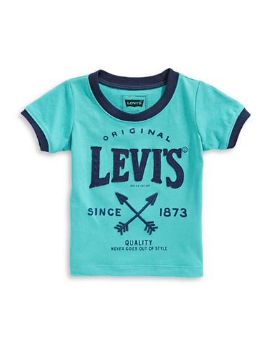 LeviS Graphic Short Sleeve Tee-BLUE-12 Months