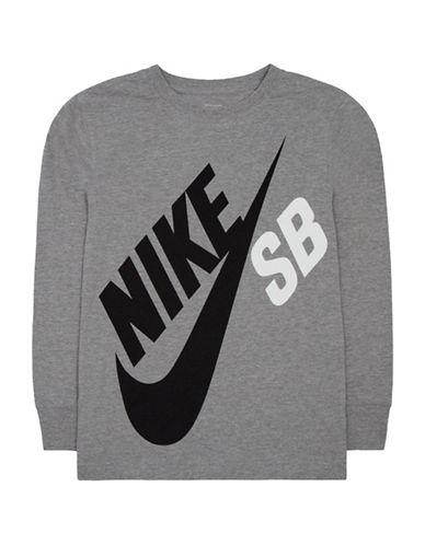 Nike Action Big Logo T-Shirt-GREY-Small 88655211_GREY_Small