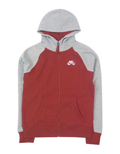 Nike Action Everett Full Zip Hoodie-RED-Medium 88655220_RED_Medium