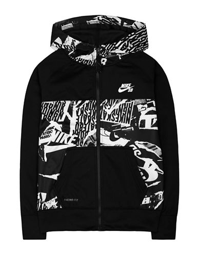 Nike Action Print Blocked Therma Fit Hoodie-BLACK-Small 88471628_BLACK_Small