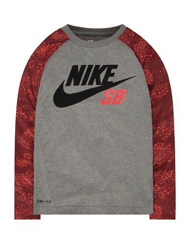 Nike Action Print Blocked Raglan T-Shirt-DARK GREY-Small 88655235_DARK GREY_Small