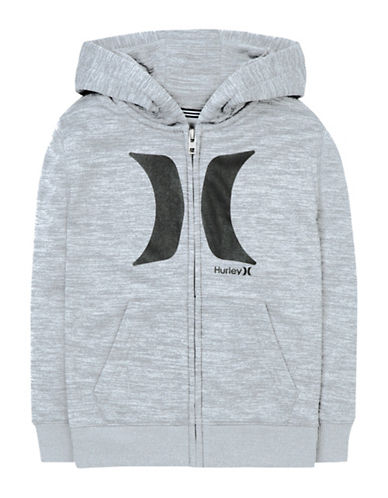Hurley Therma-Fit Zip Hoodie-GREY-Small 88663713_GREY_Small