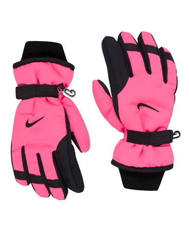 Nike Multi-Tone Snow Gloves-PINK-Small