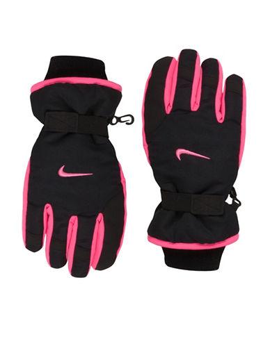 Nike Multi-Tone Snow Gloves-BLACK/PINK-4-6