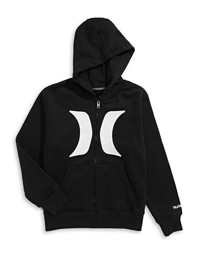 Hurley One and Only Fleece Pullover Sweatshirt-BLACK-X-Large 88474423_BLACK_X-Large