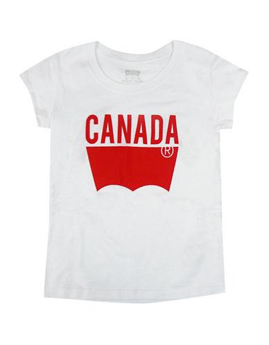 Levi'S Canada Print Cotton T-Shirt-WHITE-Medium 88427703_WHITE_Medium