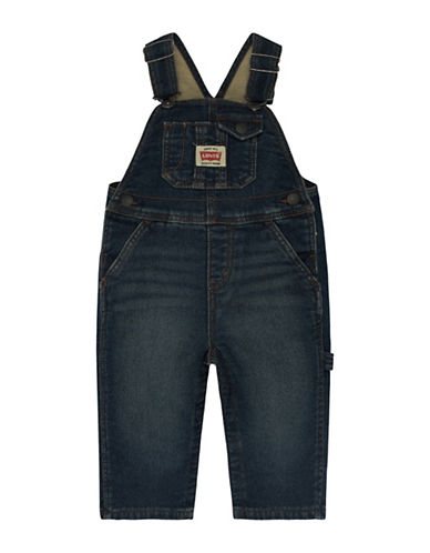 Levi'S Denim Knit Overalls-INKY-24 Months