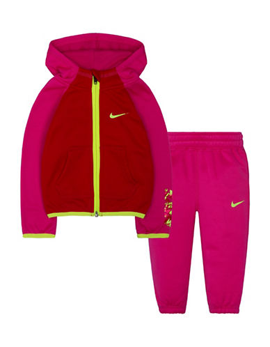 Nike Therma Fit Fleece Hoodie and Pants Set-PINK-12 Months 88675262_PINK_12 Months