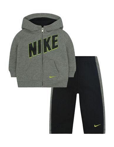 Nike Two-Piece Warm Up Set-GREY-12 Months plus size,  plus size fashion plus size appare