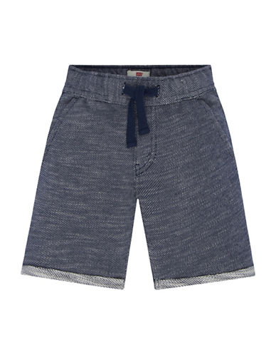 LeviS Knit Drawstring Shorts-BLUE-3