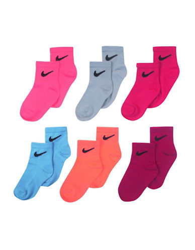 Nike Six-Pack Quarter Socks-POOL BLUE-5-6