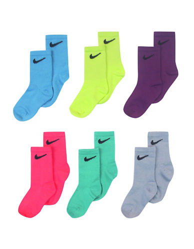 Nike Six-Pack Crew Socks-ASSORTED-6-7