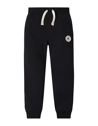 Converse Slim-Fit Fleece Lounge Pants-BLACK FLEECE-X-Large