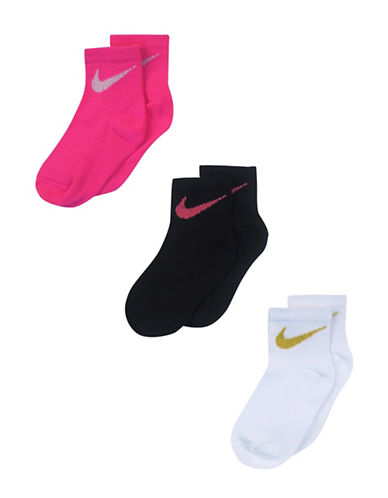 Nike Set of Three Sport Socks-PINK-6-7