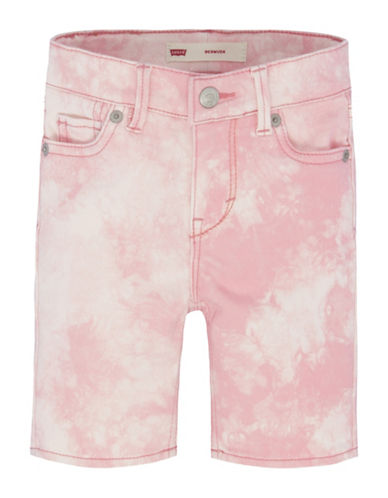 LeviS Distressed Bermuda Shorts-PINK-2T