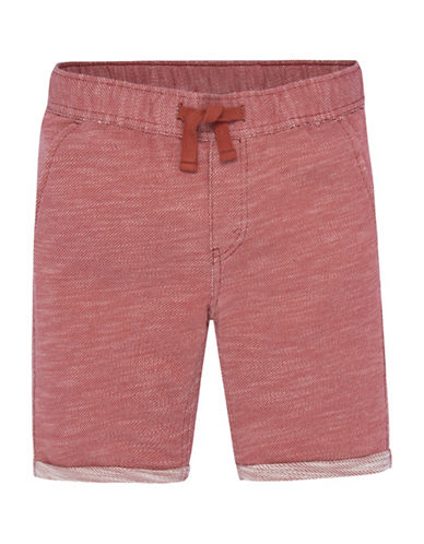 LeviS Athleisure Knit Shorts-RED-Medium