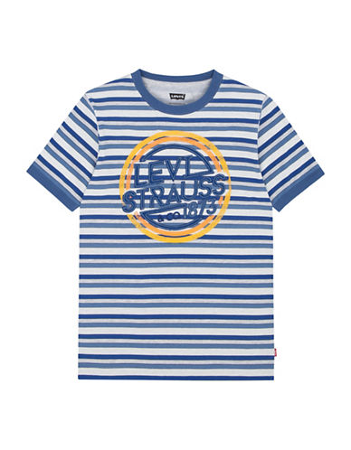 LeviS Waycross Applique T-Shirt-BLUE-7