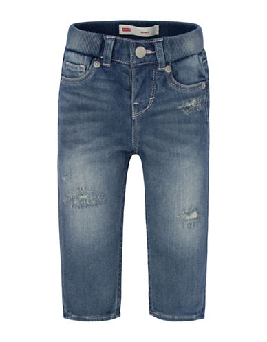Levi'S Rib Waistband Skinny Jeans-BLUE-18 Months 88980046_BLUE_18 Months