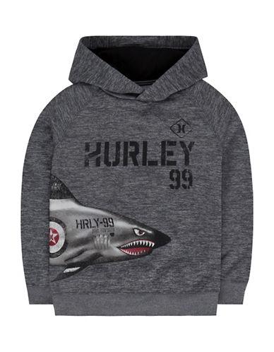 Hurley Shark Logo Hoodie-GREY-Small 88889628_GREY_Small