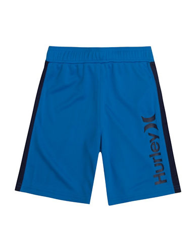 Hurley Logo Mesh Shorts-BLUE-Medium