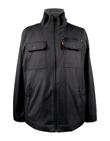 Levi'S Solid Military Jacket-BLACK-X-Large 89068688_BLACK_X-Large