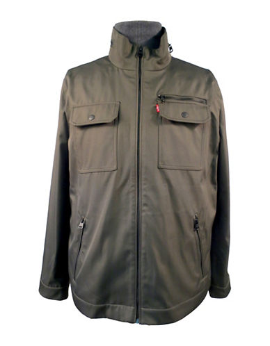 Levi'S Solid Military Jacket-GREEN-Small 89110070_GREEN_Small