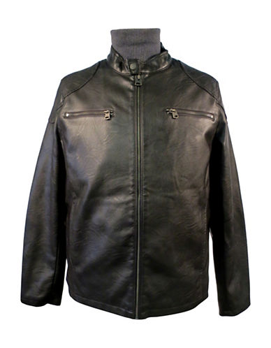 Levi'S Faux Leather Racer Jacket-BROWN-Small 89068705_BROWN_Small