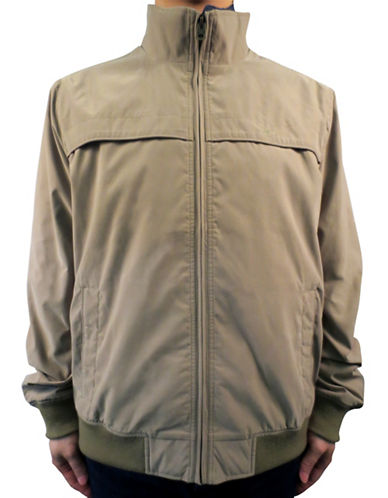 Dockers Microfiber Twill Lightweight Jacket-BEIGE-Medium