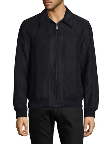 Dockers Micro Suede Jacket-NAVY-Large