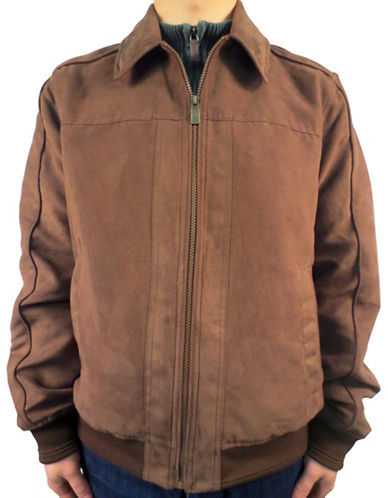 Dockers Micro Suede Jacket-BROWN-Small 89091893_BROWN_Small