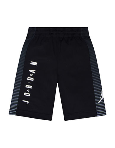 Jordan Screen-Printed Dri-FIT Tricot Game Shorts-BLACK-Small