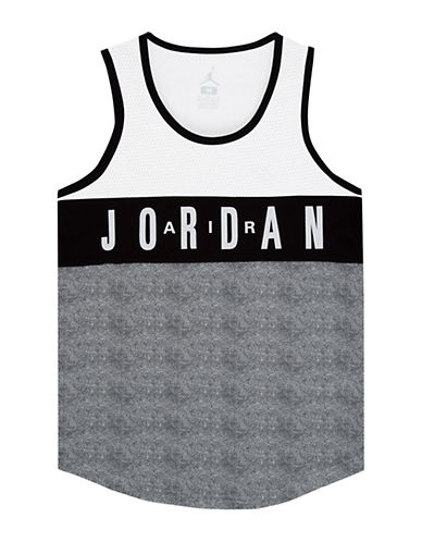 Jordan Mesh Jersey Tank Top-WHITE-Medium