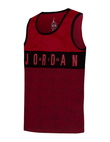 Jordan Mesh Jersey Tank Top-RED-Small