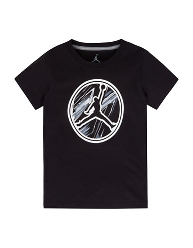 Jordan Front Graphic Tee-BLACK-Large