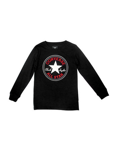 Converse Chuck Long Sleeve Tee-BLACK-4