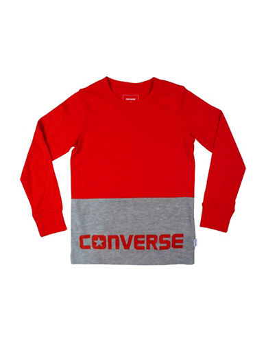 Converse Logo Long-Sleeved Top-RED-4