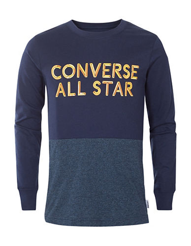 Converse Static Heather Silicon Cotton Tee-NAVY-6