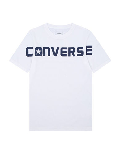 Converse Wordmark Cotton Tee-WHITE-4
