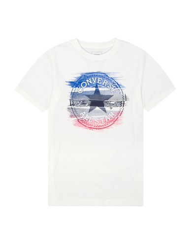 Converse Glitch Chuck Patch Cotton Tee-WHITE-5