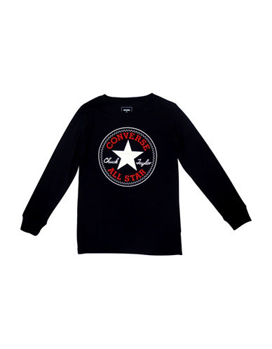 Converse Chuck Patch Cotton T-Shirt-BLACK-Small