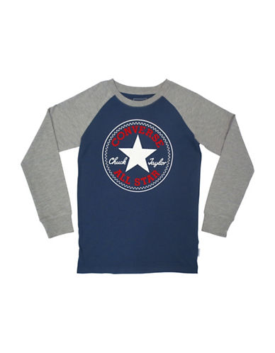 Converse Chuck Patch Cotton T-Shirt-BLUE-Small