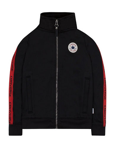 Converse Warmup Wordmark Jacket-BLACK-Large