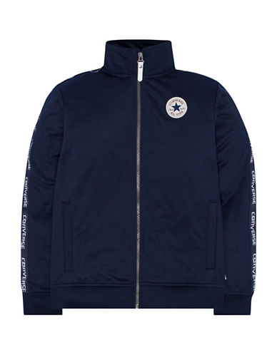Converse Warmup Wordmark Jacket-NAVY-X-Large