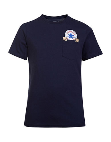 Converse Chuck Taylor Creep Pocket T-Shirt-NAVY-Large